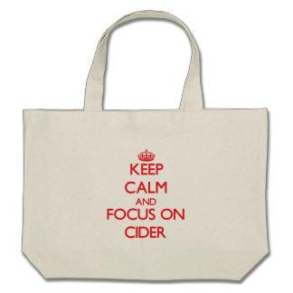 Keep Calm and focus on Cider Bag