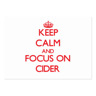 Keep Calm and focus on Cider Pack Of Chubby Business Cards