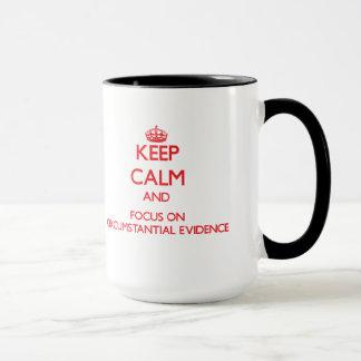Keep Calm and focus on Circumstantial Evidence Mug