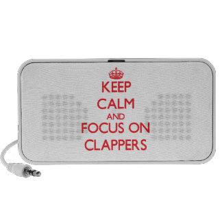 Keep Calm and focus on Clappers Travelling Speaker