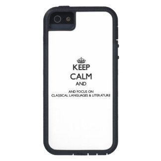 Keep calm and focus on Classical Languages Liter iPhone 5 Cases