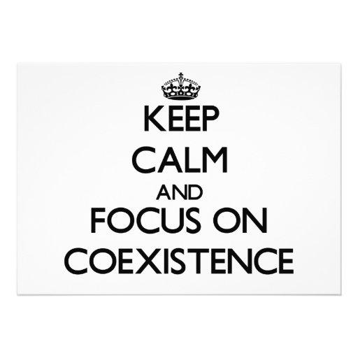 Keep Calm and focus on Coexistence Custom Invite