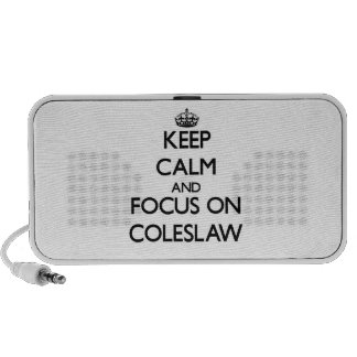 Keep Calm and focus on Coleslaw Mp3 Speakers