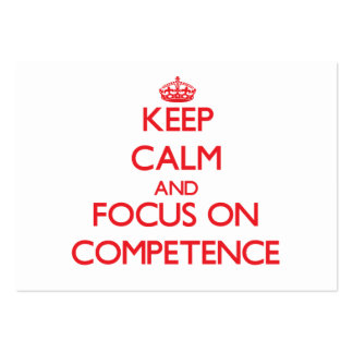 Keep Calm and focus on Competence Pack Of Chubby Business Cards