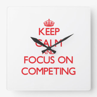 Keep Calm and focus on Competing Wallclocks