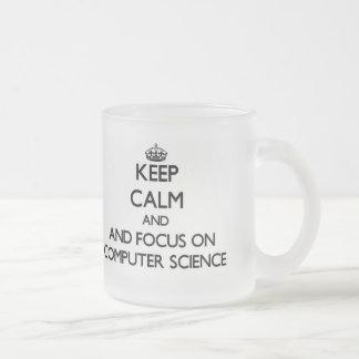 Keep calm and focus on Computer Science Coffee Mugs