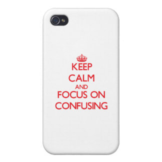 Keep Calm and focus on Confusing iPhone 4/4S Cover