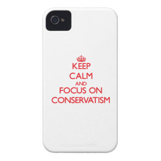 Keep Calm and focus on Conservatism iPhone 4 Cover