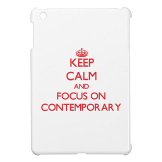 Keep Calm and focus on Contemporary iPad Mini Cover