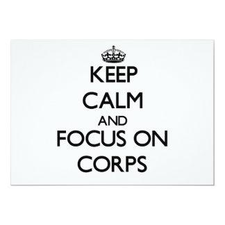 Keep Calm and focus on Corps Custom Invitations
