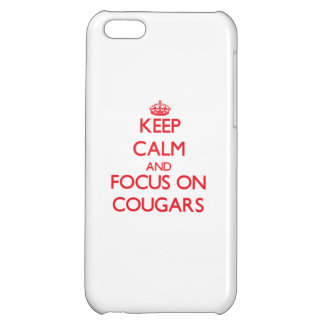 Keep Calm and focus on Cougars iPhone 5C Covers