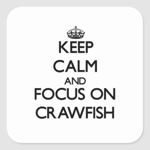 Keep Calm and focus on Crawfish Stickers