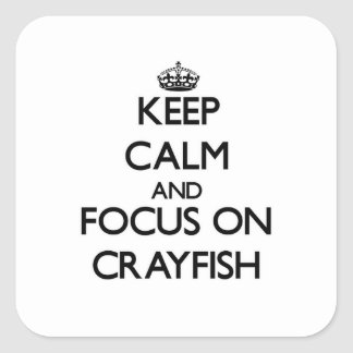 Keep Calm and focus on Crayfish Square Sticker