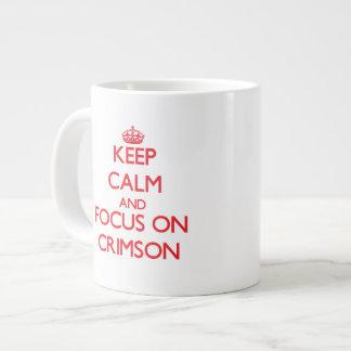 Keep Calm and focus on Crimson 20 Oz Large Ceramic Coffee Mug