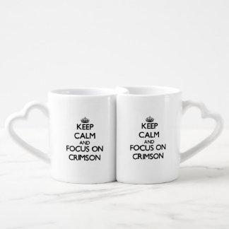 Keep Calm and focus on Crimson Couples Mug