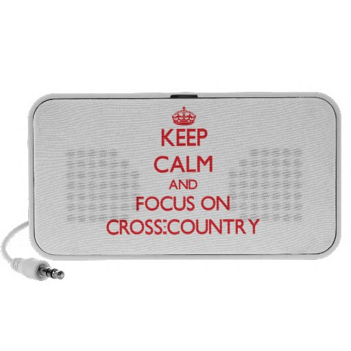 Keep Calm and focus on Cross-Country PC Speakers