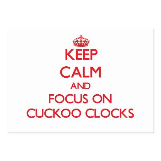 Keep Calm and focus on Cuckoo Clocks Business Card Template