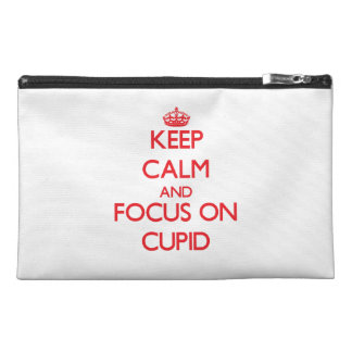 Keep Calm and focus on Cupid Travel Accessories Bag