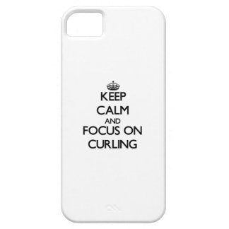 Keep Calm and focus on Curling iPhone 5/5S Case