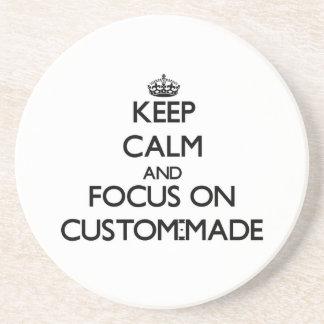 Keep Calm and focus on Custom-Made Coaster