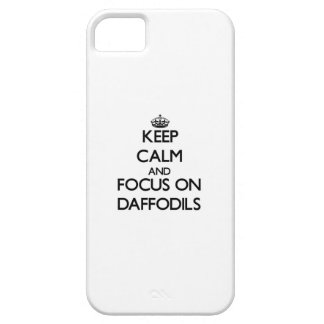 Keep Calm and focus on Daffodils iPhone 5/5S Case