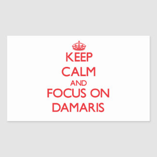 Keep Calm and focus on Damaris Rectangle Stickers
