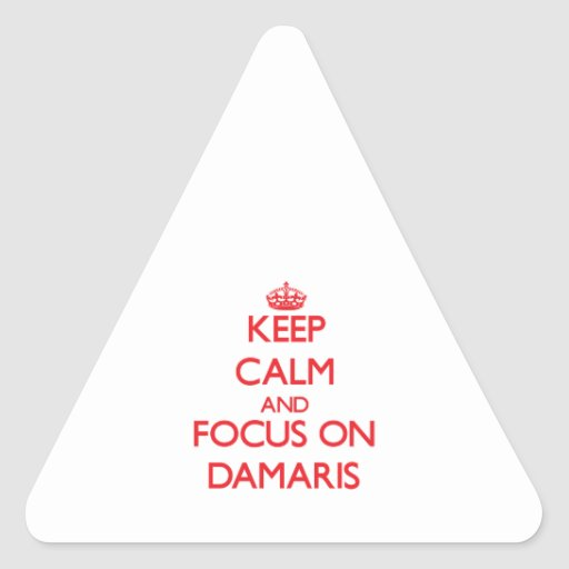 Keep Calm and focus on Damaris Triangle Stickers