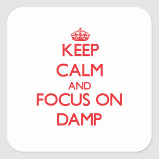 Keep Calm and focus on Damp Square Stickers