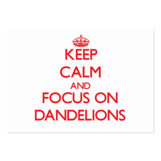 Keep Calm and focus on Dandelions Business Card Template