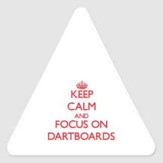 Keep Calm and focus on Dartboards Stickers