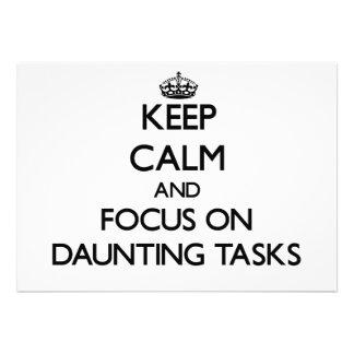 Keep Calm and focus on Daunting Tasks Invitations