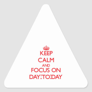Keep Calm and focus on Day-To-Day Triangle Sticker