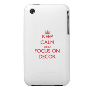 Keep Calm and focus on Decor iPhone 3 Cover