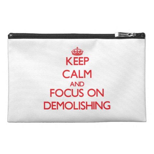 Keep Calm and focus on Demolishing Travel Accessories Bag