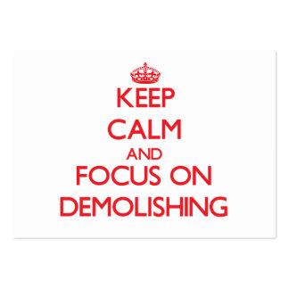 Keep Calm and focus on Demolishing Business Card Template
