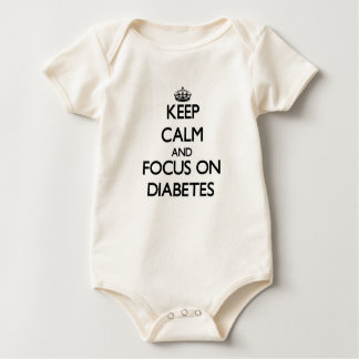 Keep Calm and focus on Diabetes Baby Bodysuit