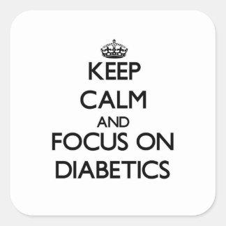 Keep Calm and focus on Diabetics Sticker