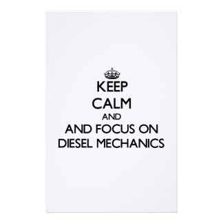 Keep calm and focus on Diesel Mechanics Stationery