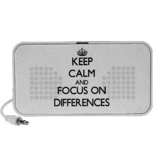 Keep Calm and focus on Differences iPhone Speakers