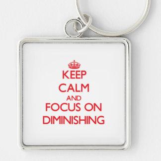 Keep Calm and focus on Diminishing Key Chain