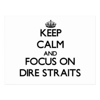 Keep Calm and focus on Dire Straits Postcard