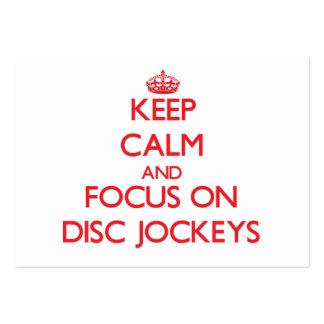 Keep Calm and focus on Disc Jockeys Business Cards