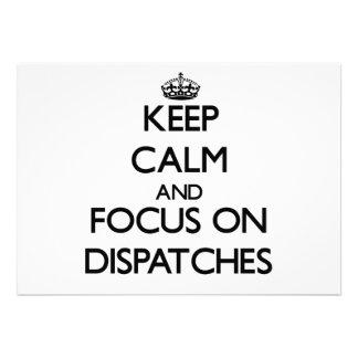 Keep Calm and focus on Dispatches Custom Invites