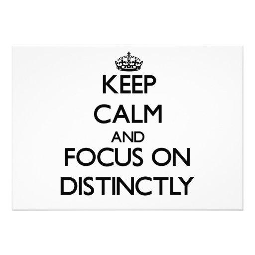 Keep Calm and focus on Distinctly Cards