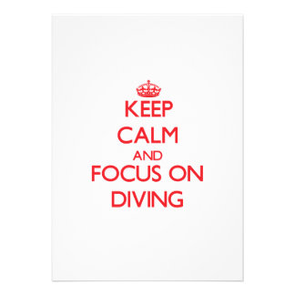Keep Calm and focus on Diving Custom Invite