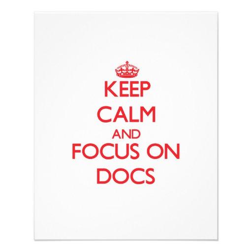 Keep Calm and focus on Docs Custom Flyer
