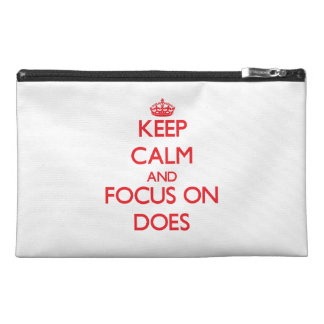 Keep Calm and focus on Does Travel Accessories Bag