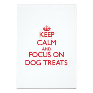 """Keep Calm and focus on Dog Treats 3.5"""" X 5"""" Invitation Card"""