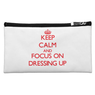 Keep Calm and focus on Dressing Up Cosmetics Bags