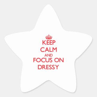Keep Calm and focus on Dressy Star Sticker